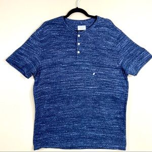 NWT Abercrombie & Fitch Blue Static Button T-Shirt